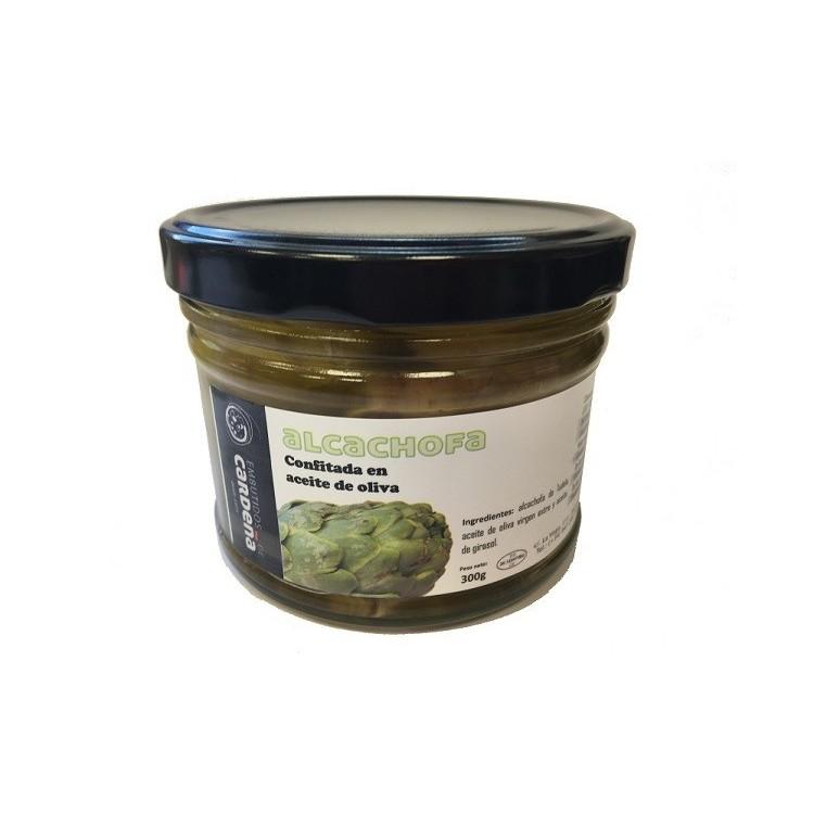Alcachofas de Tudela Confitada en aceite de oliva